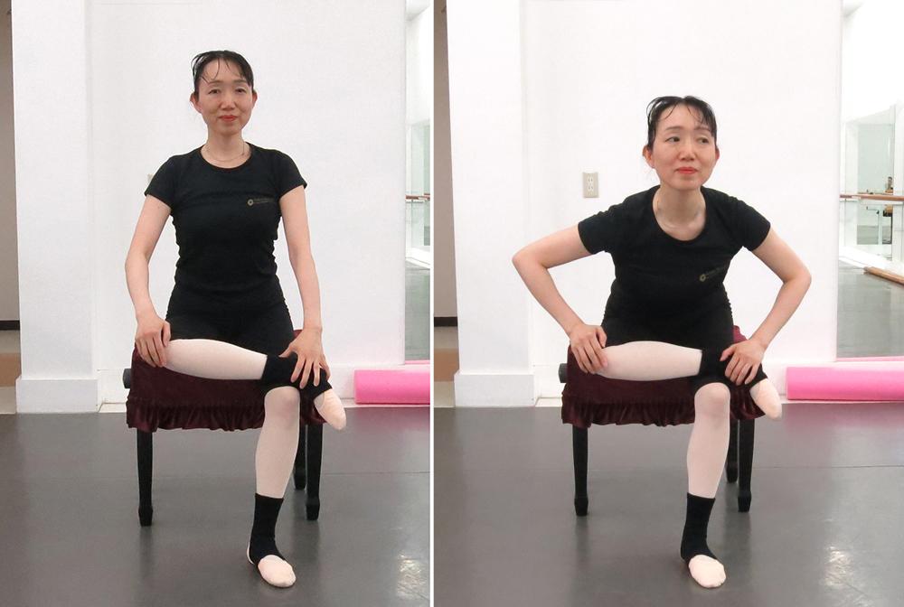 大臀筋ストレッチ椅子1