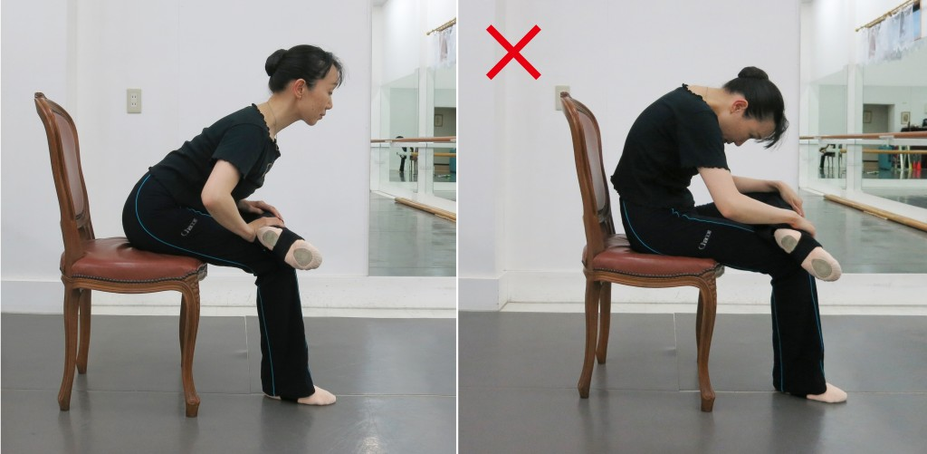 椅子臀筋横からNGも
