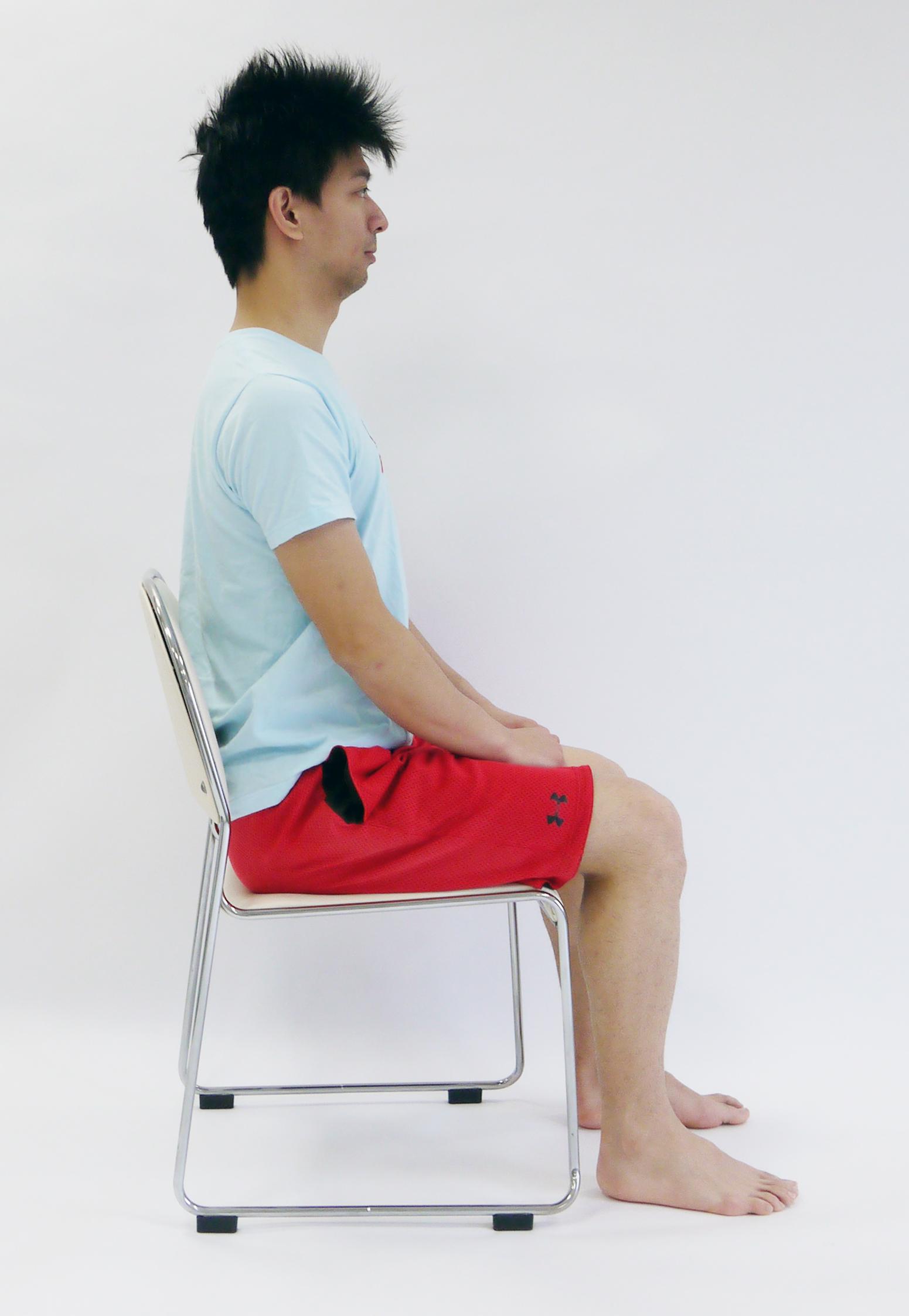 膝の抱え込み運動2