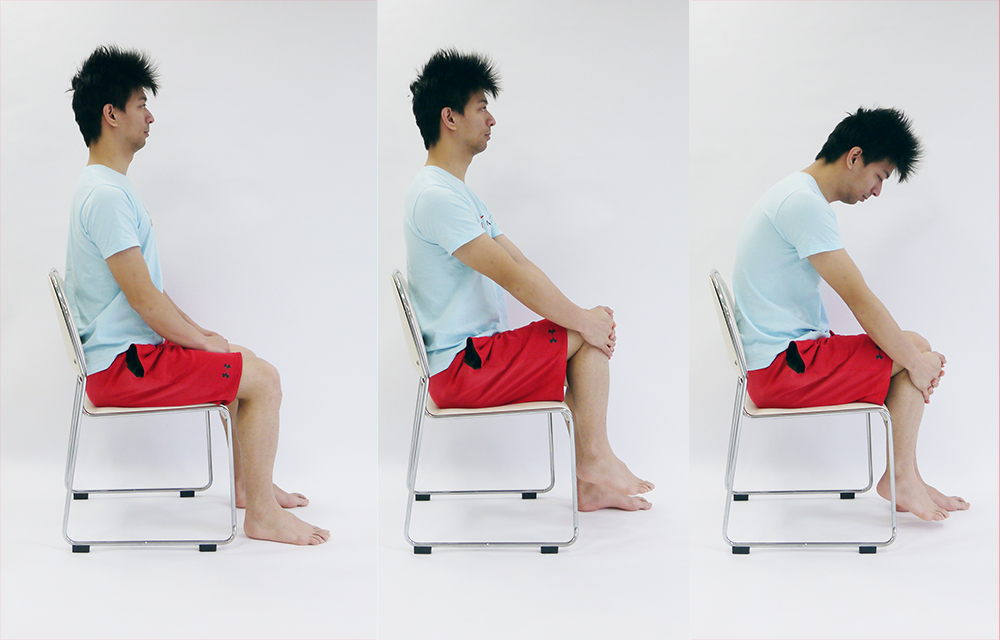 膝の抱え込み運動1