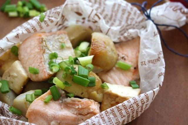 鮭と里芋のみりん焼き