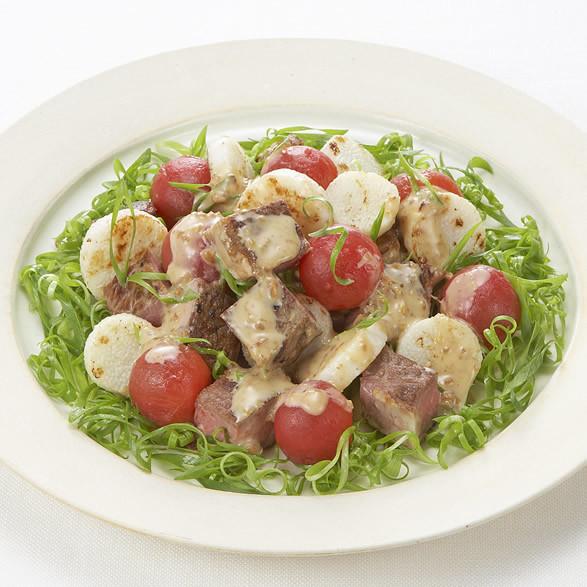 牛肉とナガイモのサラダ