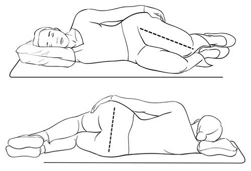 横向き寝に注意