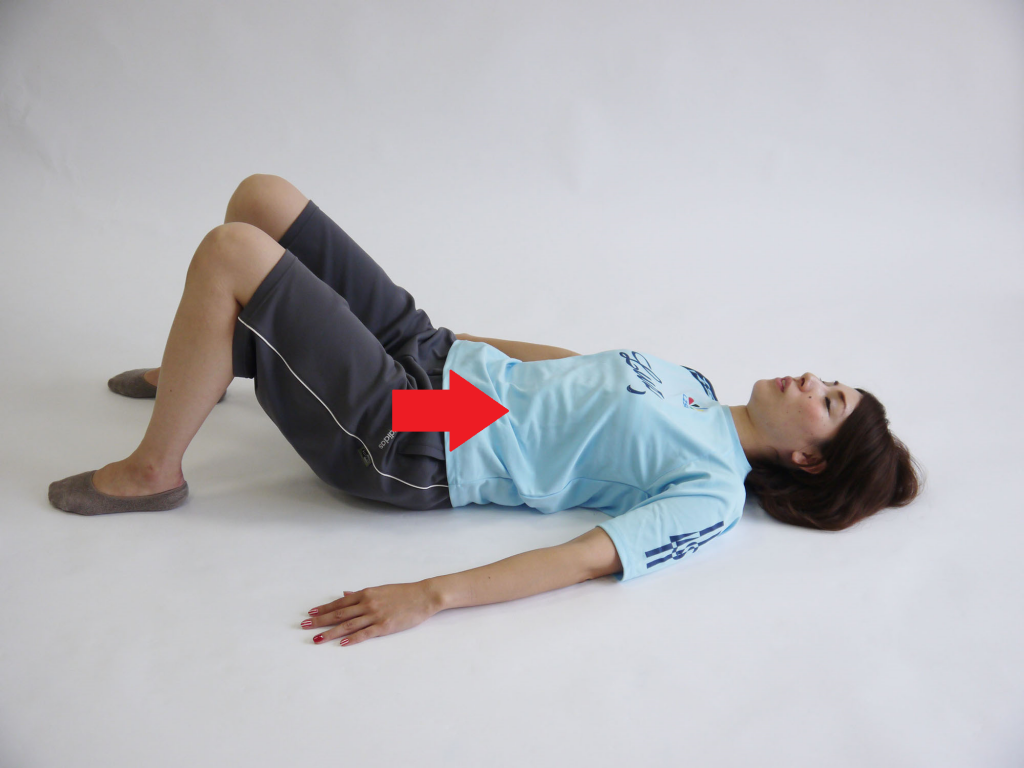 ケーゲル体操仰向け呼吸2