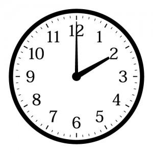 時計14時
