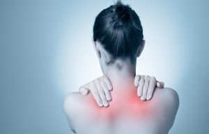 Woman with back ache