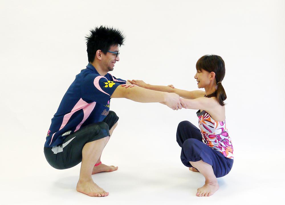 股関節の開脚運動4