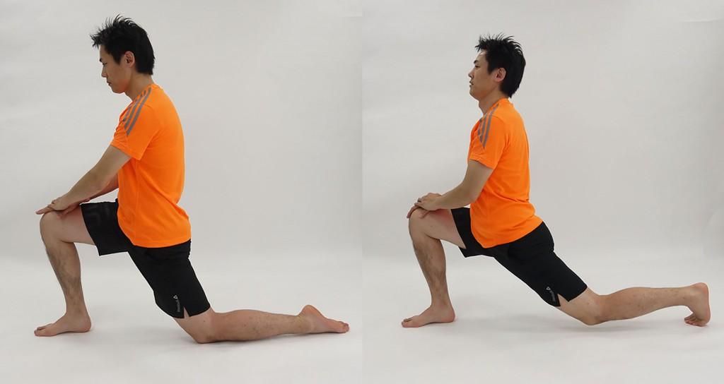 大腿とアキレス腱のストレッチ