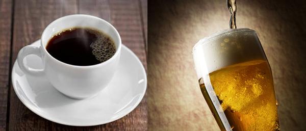 コーヒーとビール