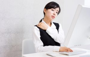 Businesswoman using a computer