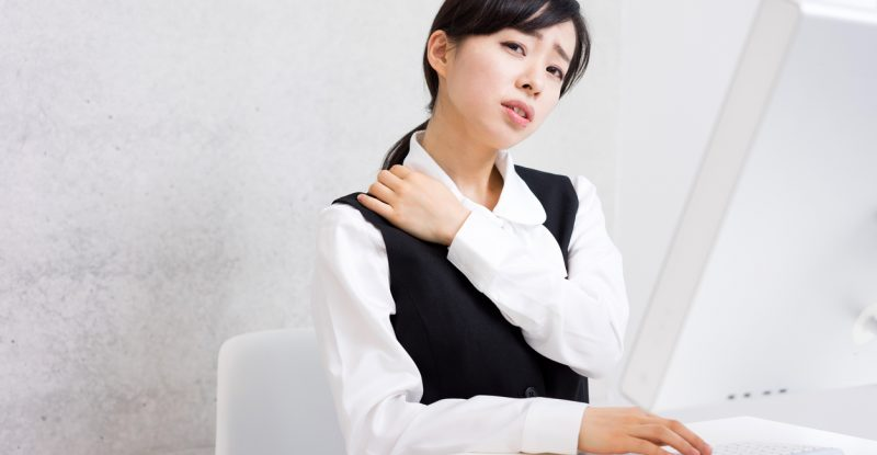 Businesswoman using a computer