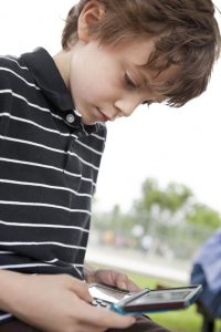 Child Playing Nintendo DS