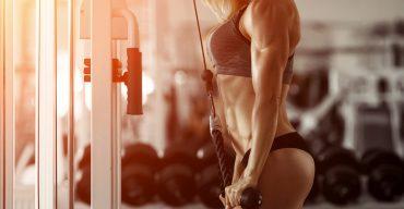 Blonde fitness girl
